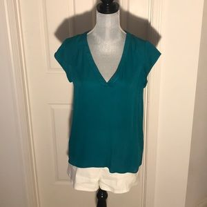 Joie silk emails green blouse